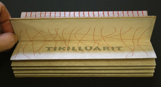 limited edition letterpress printed leather bound book with wooden sound sculpture