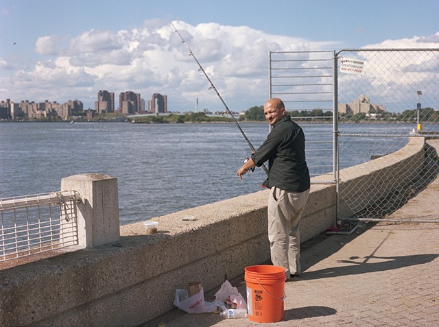 Fishing, North End, Roosevelt Island, July 2013