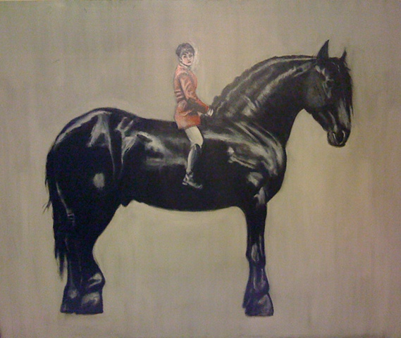 Boy on the horse (SOLD