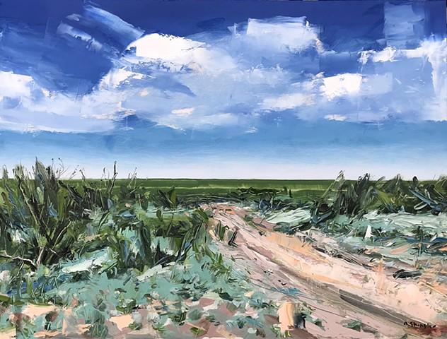"'Amarillo, Texas'  18""x24"" Oil on wood"