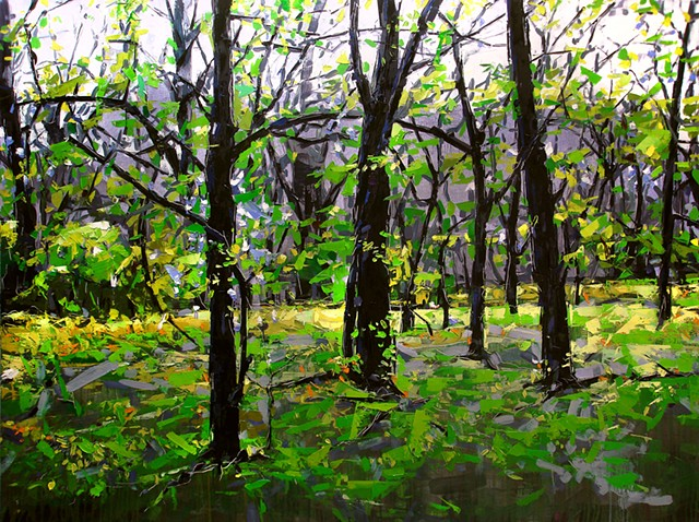 "'Spring Forest'  48""x64"" Oil on wood"