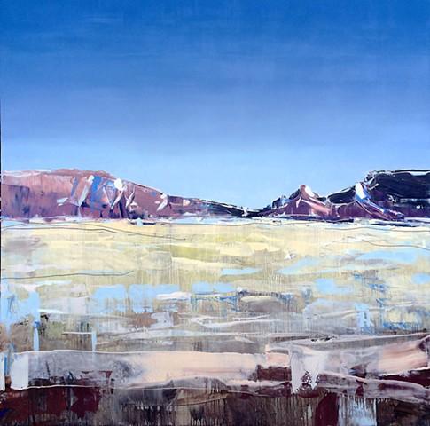 """'Moab Plains. Utah'  48""""x48"""" Oil on wood"""