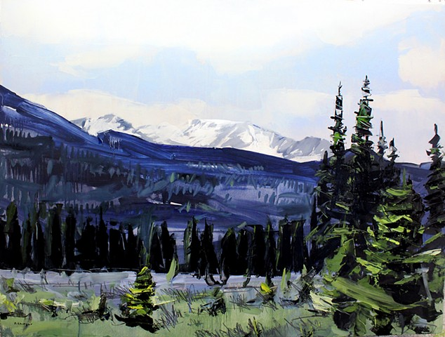 "'Rocky Mountain National Park' 30"" x40"" Oil on wood"