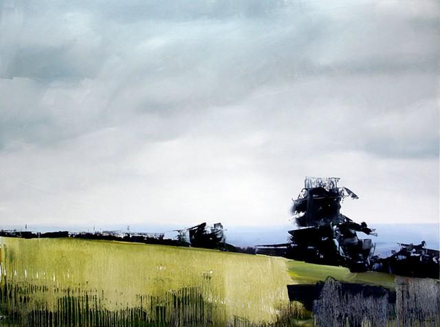 """'Genesee Park, Colorado' 36""""x48"""" Oil on wood 2014"""