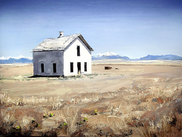 "Colorado. House 27""x36"" Oil on wood"