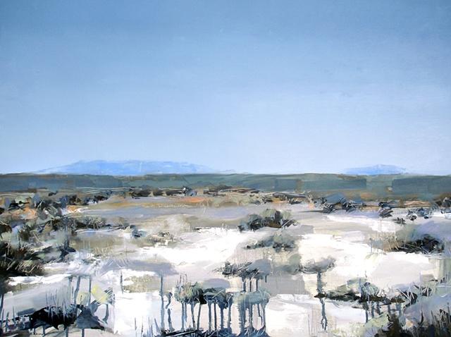"'Mosca, San Luis Valley. Colorado'  31""x41"" Oil on wood"