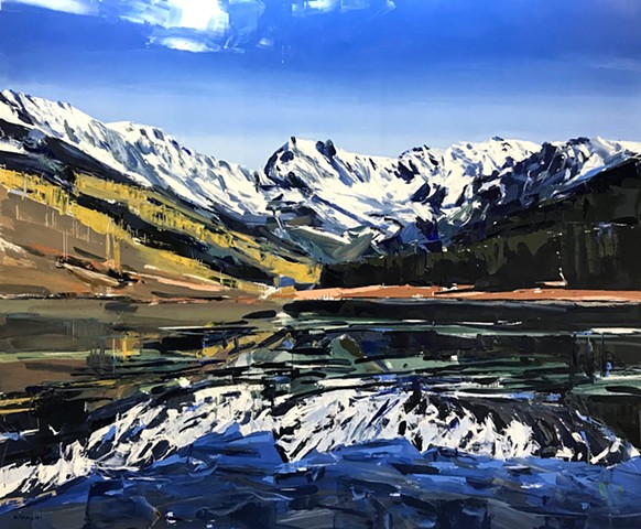 """'Vail Colorado'  40""""x48"""" Oil on wood"""