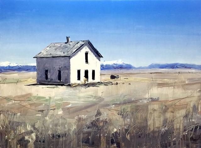 "'Colorado House #2' 30""x40"" Oil on wood"