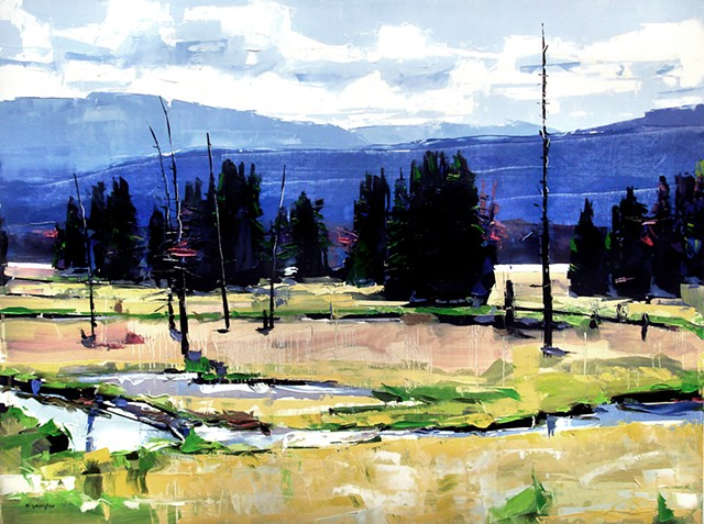 """'Rocky Mountain National Park' 30""""x40"""" Oil on wood"""