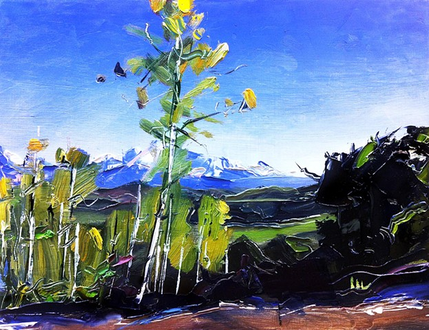 "Southwest Art Magazine Sweepstakes.  To WIN this painting go to: www.southwestart.com   'Telluride. Colorado' 8.5""x11"" Oil on wood"