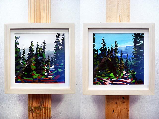 "'Guanella Pass, Colorado' 8""x8"" Watercolor"