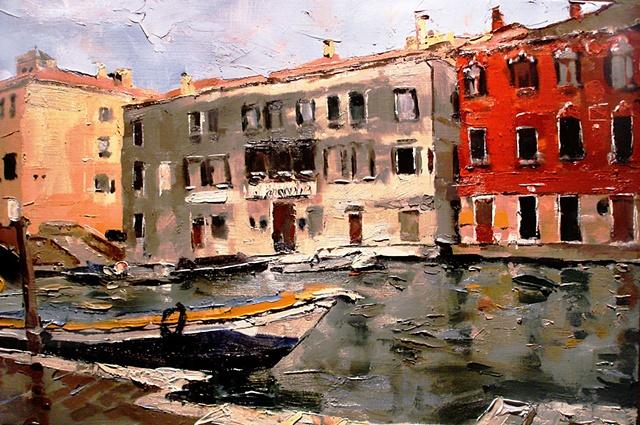 "Italy. Venice 16""x24"" Oil"