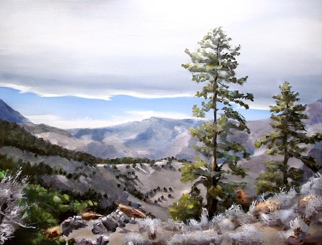 """Colorado. Mt. Falcon  24""""x32"""" Oil"""