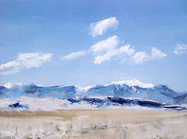 "'Sand dunes, San Luis Valley ' Colorado. 30""x40"" Oil on wood"
