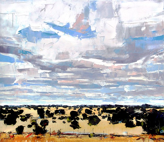 """'New Mexico'  24""""x28"""" Oil on wood"""