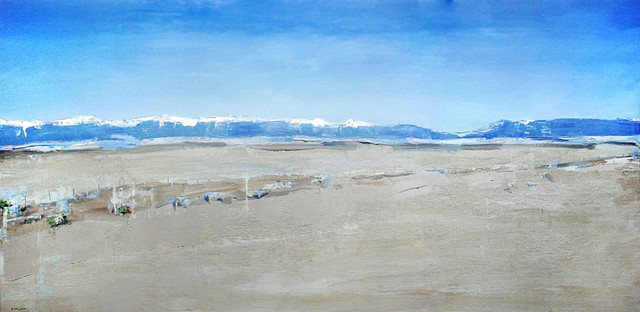 "'San Luis Valley, Colorado'. 30""x60""  Oil on wood"