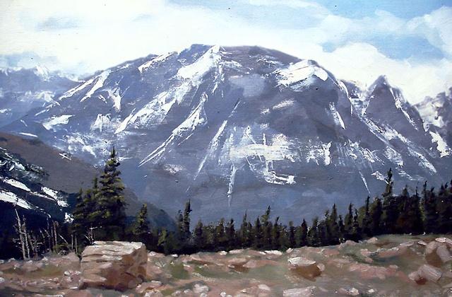 """Colorado. Rocky Mountain National Park 16""""x20"""" Oil"""