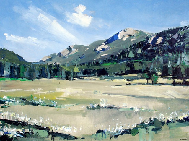 """Purchased by Kaiser Permanente  'Rocky Mountain National Park' 36""""x48"""" Oil on wood   SOLD"""
