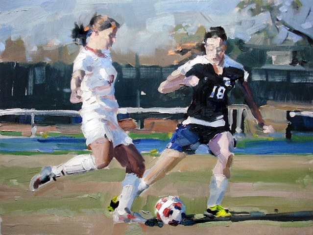 "Sports Portrait #2 12""x16""  Oil on wood"