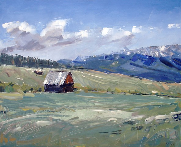 "'Tabernash Barn, CO'  24""x30"" Oil on wood"