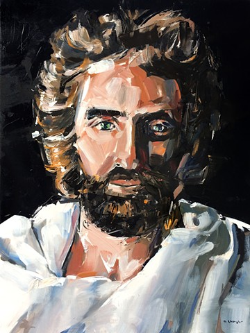 "'Jesus Portrait'  18""x24"" Oil on wood"