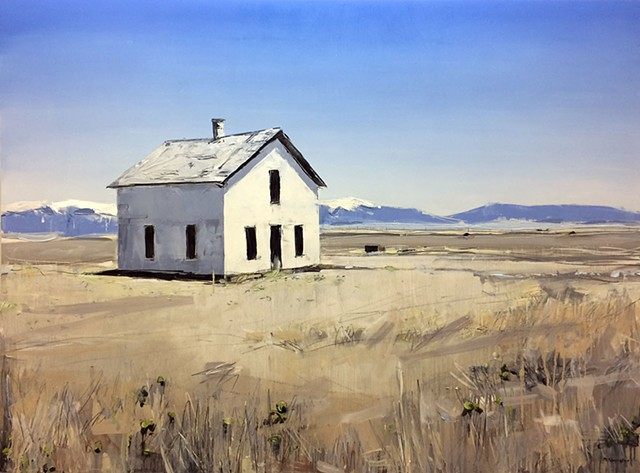 "'Colorado House'  30""x40"" Oil on wood"
