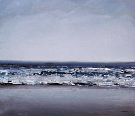 "'Pine Knoll Shores, NC'  12""x14"" Oil on wood."