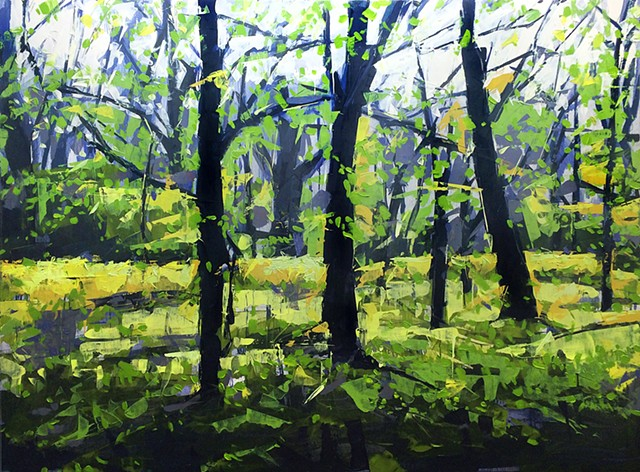 "'Spring Forest'  36""x48"" Oil on wood"
