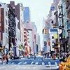 "New York City #2  24""x32"" Oil on wood"