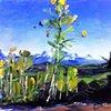 "'Telluride. Colorado' 8.5""x11"" Oil on wood"
