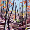 """'Fall at Stone Mountain. NC'  30""""x40"""" Oil on wood"""