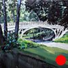 """Commission for HBO Office, New York. 'Gothic Bridge' Central Park.  24""""x24"""" Oil"""