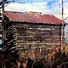 "'Winter Barn' 24""x32""  Oil on wood"