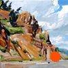 "'Idaho Springs. CO' 16""x20"" Oil on wood"