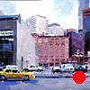 """'Brown Palace Taxi' 40""""x48"""" Oil on wood  Commission painting purchased by Brownstein Hyatt Farber & Schreck Law Firm in Denver, CO."""
