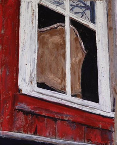 Old Chair in a Vermont barn window