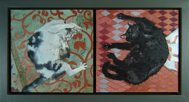 Cat Panel Diptych