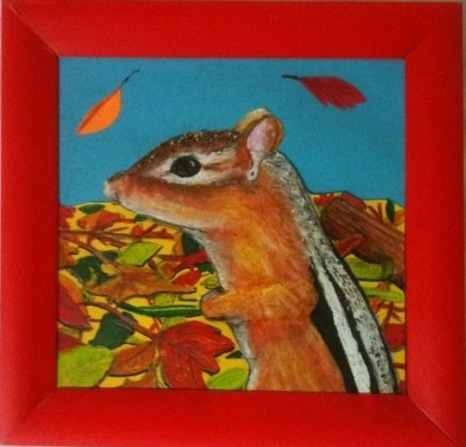 post it art, framed art, nature illustration, gifts