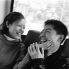 Young Couple on a Bus
