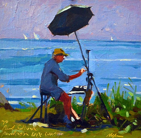'' Paul Plein Air Painting in Little Compton'' PRIVATE COLLECTION