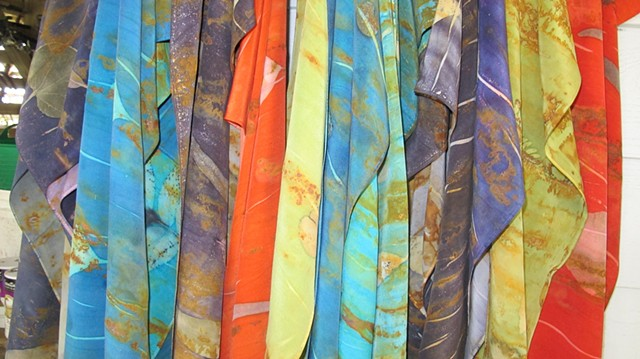 Rust and Eco-print Scarves