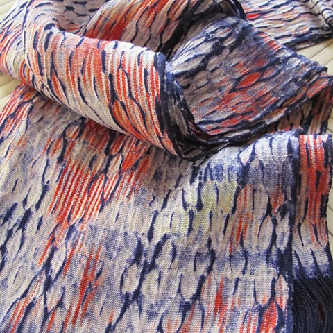 """On loom Shibori"" Tencel Shawl"