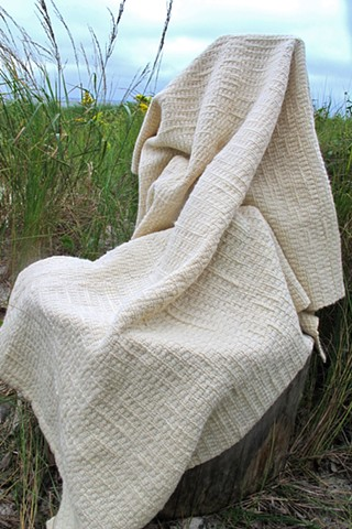 Handspun and Handwoven Wool Throw