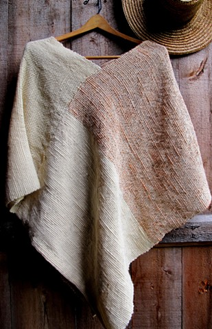 Handwoven, Handspun, and Naturally Dyed Wrap