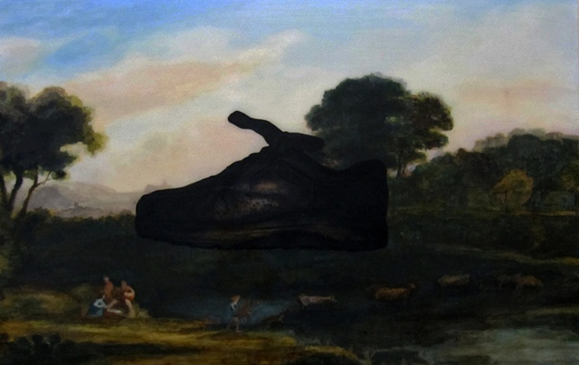 landscape with shoe