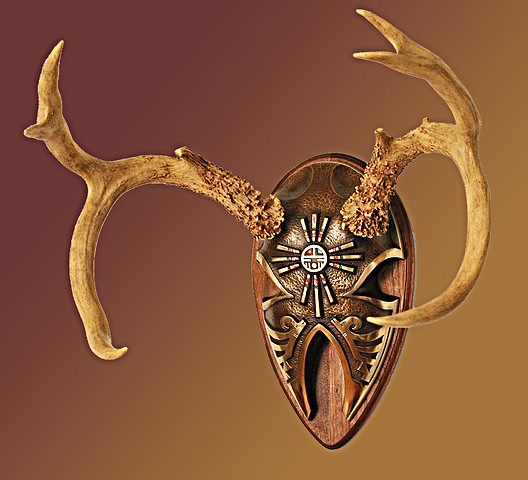 El Dorado Bronze Antler Display