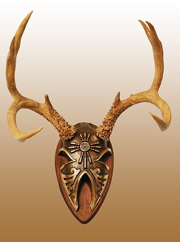 High Quality Silicone Bronze Fine Art Antler Display