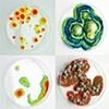"Jasmyne Graybill Unknown Specimens Petri dishes, polymer clay, latex 3 ½ "" diameter (each)"