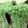 "Specklebelly  Steamer basket, polymer clay 7"" x 7"" x 5"""
