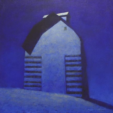 """Corn Crib Winter Moon"""